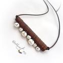fahéjas nyakláncok 1., Ékszer, Gyűrű, Illatos nyaklánc, fahéjból, igazgyöngy díszítéssel. Extravagáns darab , merészeknek :) Heng..., Meska