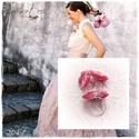 Tavaszi Kert kollekció, rózsa gyűrű és fülbevaló, Ékszer, Fülbevaló, Ékszerkészítés, Horgolás, A kollekció első tagja . Rózsaszin melírozott  gyöngyfonalból készült , állítható méretű gyűrű fülb..., Meska