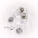 Antik kristály fülbevaló, Ékszer, Fülbevaló, Szemet gyönyörködtető darab :) Csiszolt hatszögű  antik kristály, fém kiegészítőkkel. Tel..., Meska