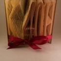 Egyedi feliratos hajtogatott könyv origami - Évfordulóra - Hölgyeknek - Uraknak - K40H - könyvszobor - E16, Dekoráció, Otthon, lakberendezés, Esküvő, Dísz,  Hajtogatott könyv vagy más néven könyv origami.  Egyedi elképzelés alapján bármilyen szöveg elkészí..., Meska