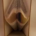 Bajusz alakú hajtogatott könyv - Betyár - Hungarikum - Férfiaknak - Könyvszobor - dísz - E33, Dekoráció, Magyar motívumokkal, Férfiaknak, Mindenmás, Papírművészet, Újrahasznosított alapanyagból készült termékek, Hajtogatott könyv vagy más néven könyv origami.   ****ALAP INFORMÁCIÓK**** A hajtogatott könyv ideá..., Meska