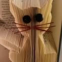 Macska mintájú hajtogatott könyv origami - cica szeretőknek - állatbarátoknak - E41, Dekoráció, Állatfelszerelések, Otthon, lakberendezés, Kép, Papírművészet, Újrahasznosított alapanyagból készült termékek, Hajtogatott könyv vagy más néven könyv origami.   ****ALAP INFORMÁCIÓK**** A hajtogatott könyv ideá..., Meska