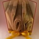 Egyedi 4 betűs feliratos hajtogatott könyv - egyedi 4 betűs szöveg - origami - Noka - E51, Dekoráció, Otthon, lakberendezés, Esküvő, Dísz,  Hajtogatott könyv vagy más néven könyv origami.  Egyedi elképzelés alapján bármilyen szöveg elkészí..., Meska