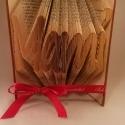 """""""Mami"""" feliratos hajtogatott könyv - egyedi 4 betűs szöveg -anyák napjára - nagymamának - E62, Dekoráció, Otthon, lakberendezés, Dísz, Utcatábla, névtábla, Papírművészet, Újrahasznosított alapanyagból készült termékek,  Hajtogatott könyv vagy más néven könyv origami.  Egyedi elképzelés alapján bármilyen szöveg elkész..., Meska"""