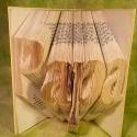 """""""Papa"""" feliratos hajtogatott könyv - egyedi 4 betűs szöveg -apák napjára - nagymamának - origami - E44, Dekoráció, Otthon, lakberendezés, Férfiaknak, Utcatábla, névtábla, Hajtogatott könyv vagy más néven könyv origami.  Precíz tervezéssel és hajtogatással a megunt, nem h..., Meska"""