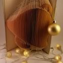 3D Csengő hajtogatott könyvszobor - Advent - Asztaldísz - Origami ajándék - Harang - E50, Dekoráció, Képzőművészet, Otthon, lakberendezés, Szobor, Hajtogatott könyv vagy más néven könyv origami.   ****ALAP INFORMÁCIÓK**** A hajtogatott könyv ideál..., Meska