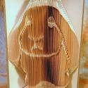 Nyúl mintájú hajtogatott könyv origami - nyuszi szeretőknek - állatbarátoknak - E79, Dekoráció, Állatfelszerelések, Otthon, lakberendezés, Kerti dísz, Hajtogatott könyv vagy más néven könyv origami.   ****ALAP INFORMÁCIÓK**** A hajtogatott könyv ideál..., Meska