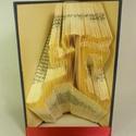 Futó - hajtogatott könyv origami - sportolóknak - futóknak - egészség - E228, Dekoráció, Otthon, lakberendezés, Dísz, Hajtogatott könyv vagy más néven könyv origami.   ****ALAP INFORMÁCIÓK**** A hajtogatott könyv ideál..., Meska
