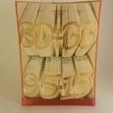 Két soros hajtogatott könyv origami-Lakodalomra-Nászajándék-évforduló-Monogramm-Dátum-esküvői ajándék-könyvszobor-E215, Dekoráció, Esküvő, Otthon, lakberendezés, Dísz, Hajtogatott könyv vagy más néven könyv origami.  Egyedi elképzelés alapján bármilyen szöveg elkészít..., Meska