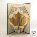 Juharlevél mintájú hajtogatott könyv origami - Kanada - Fa - Természetbarát - Könyvszobrászat - E198, Dekoráció, Otthon, lakberendezés, Dísz, Hajtogatott könyv vagy más néven könyv origami.   ****ALAP INFORMÁCIÓK**** A hajtogatott könyv ideál..., Meska