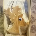 Rénszarvas mintájú hajtogatott könyv origami-Karácsonyra-Rudolf-Mikulás-Télapó-állatbarátoknak-E194, Dekoráció, Otthon, lakberendezés, Dísz, Karácsonyi, adventi apróságok, Hajtogatott könyv vagy más néven könyv origami.   ****ALAP INFORMÁCIÓK**** A hajtogatott könyv ideál..., Meska