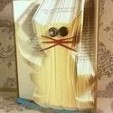 Macska mintájú hajtogatott könyv origami - cica szeretőknek - állatbarátoknak - E191, Dekoráció, Otthon, lakberendezés, Dísz, Hajtogatott könyv vagy más néven könyv origami.   ****ALAP INFORMÁCIÓK**** A hajtogatott könyv ideál..., Meska