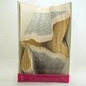 Gólya alakú hajtogatott könyv origami - Újrahasznosított-Gyermekáldásra - Születés - Ajándék - E184, Dekoráció, Baba-mama-gyerek, Otthon, lakberendezés, Dísz, Hajtogatott könyv vagy más néven könyv origami.   ****ALAP INFORMÁCIÓK**** A hajtogatott könyv ideál..., Meska