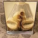 Kerékpár mintájú hajtogatott könyv origami - bicikli szeretőknek - sportolóknak - E166, Dekoráció, Otthon, lakberendezés, Férfiaknak, Dísz, Hajtogatott könyv vagy más néven könyv origami.   ****ALAP INFORMÁCIÓK**** A hajtogatott könyv ideál..., Meska