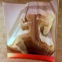 Futó - hajtogatott könyv origami - sportolóknak - futóknak - könyvszobor - egészség - E160, Dekoráció, Otthon, lakberendezés, Dísz, Hajtogatott könyv vagy más néven könyv origami.   ****ALAP INFORMÁCIÓK**** A hajtogatott könyv ideál..., Meska