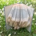 Egyedi 7 betűs feliratos hajtogatott könyv - egyedi hét betűs szöveg - origami - Angyal! - szobor - E152, Dekoráció, Otthon, lakberendezés, Dísz, Hajtogatott könyv vagy más néven könyv origami.  Egyedi elképzelés alapján bármilyen szöveg elkészít..., Meska