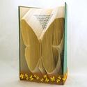 Pillangó mintájú hajtogatott könyv origami - lepke - állatbarátoknak - E128, Dekoráció, Otthon, lakberendezés, Dísz, Hajtogatott könyv vagy más néven könyv origami.   ****ALAP INFORMÁCIÓK**** A hajtogatott könyv ideál..., Meska