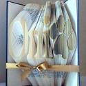 Egyedi 4 betűs feliratos hajtogatott könyv manccsal-Újrahasznosított-egyedi négy betűs szöveg-Kutya-Tappancs-E102, Dekoráció, Otthon, lakberendezés, Dísz, Hajtogatott könyv vagy más néven könyv origami.  Egyedi elképzelés alapján bármilyen szöveg elkészít..., Meska