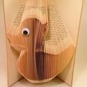 Kacsa mintájú hajtogatott könyv origami - kacsa szeretőknek - állatbarátoknak - E101, Dekoráció, Otthon, lakberendezés, Dísz, Hajtogatott könyv vagy más néven könyv origami.   ****ALAP INFORMÁCIÓK**** A hajtogatott könyv ideál..., Meska