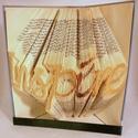 Inspire feliratos hajtogatott könyv-egyedi 7 betűs szöveg-szerelmespároknak-esküvőre-Inspiráció-vers-E217, Dekoráció, Otthon, lakberendezés, Dísz, Hajtogatott könyv vagy más néven könyv origami.  Egyedi elképzelés alapján bármilyen szöveg elkészít..., Meska