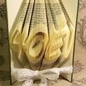 40 év - Egyedi számos és feliratos hajtogatott könyvszobor-születésnapra-évfordulóra-két szám-origami-E187, Dekoráció, Otthon, lakberendezés, Dísz, Utcatábla, névtábla, Hajtogatott könyv vagy más néven könyv origami.  Egyedi elképzelés alapján bármilyen szám és szöveg ..., Meska
