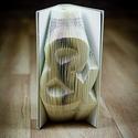 Egyedi szimbólumot formázó könyvszobor - E219, Dekoráció, Képzőművészet, Otthon, lakberendezés, Karácsonyi, adventi apróságok, Hajtogatott könyv vagy más néven könyv origami.   ****ALAP INFORMÁCIÓK**** A hajtogatott könyv ideál..., Meska