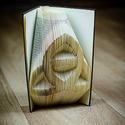 Kelta csomót formázó könyvszobor - E211, Dekoráció, Képzőművészet, Otthon, lakberendezés, Karácsonyi, adventi apróságok, Hajtogatott könyv vagy más néven könyv origami.   ****ALAP INFORMÁCIÓK**** A hajtogatott könyv ideál..., Meska