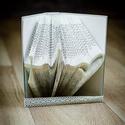 Egyedi szimbólumot formázó könyvszobor - Hit - Remény - Szeretet - E247, Dekoráció, Képzőművészet, Otthon, lakberendezés, Karácsonyi, adventi apróságok, Hajtogatott könyv vagy más néven könyv origami.   ****ALAP INFORMÁCIÓK**** A hajtogatott könyv ideál..., Meska