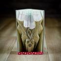 Krisztustövist formázó könyvszobor - E251, Dekoráció, Képzőművészet, Otthon, lakberendezés, Karácsonyi, adventi apróságok, Hajtogatott könyv vagy más néven könyv origami.   ****ALAP INFORMÁCIÓK**** A hajtogatott könyv ideál..., Meska