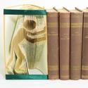 Jobbra toló ember formájú könyvszobor - könyvtámasz - dísz - E238, Dekoráció, Képzőművészet, Otthon, lakberendezés, Karácsonyi, adventi apróságok, Hajtogatott könyv vagy más néven könyv origami.   ****ALAP INFORMÁCIÓK**** A hajtogatott köny..., Meska