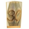 30 - Egyedi számos hajtogatott könyv origami - születésnapra - évfordulóra - két szám - könyvszobor - E663, Dekoráció, Otthon, lakberendezés, Dísz, Utcatábla, névtábla, Hajtogatott könyv vagy más néven könyv origami.  Egyedi elképzelés alapján bármilyen szöveg elkészít..., Meska