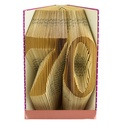 70 - Egyedi számos hajtogatott könyv origami - 70. születésnapra - évfordulóra - két karakter - könyvszobor - E655, Dekoráció, Esküvő, Dísz, Nászajándék, Hajtogatott könyv vagy más néven könyv origami.  Egyedi elképzelés alapján bármilyen szöveg elkészít..., Meska