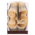 35 - Egyedi számos hajtogatott könyvszobor -  Origami - Születésnapra - Évfordulóra -  E505, Dekoráció, Otthon, lakberendezés, Dísz, Kerti dísz, ****ALAP INFORMÁCIÓK**** A hajtogatott könyv ideális ajándéknak bizonyul életünk minden nagyobb esem..., Meska