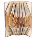 """""""Mama"""" feliratos hajtogatott könyv - Nagymamának - anyák napjára - nagyinak - E515, Dekoráció, Otthon, lakberendezés, Dísz, Utcatábla, névtábla,  Hajtogatott könyv vagy más néven könyv origami.  Egyedi elképzelés alapján bármilyen szöveg elkészí..., Meska"""