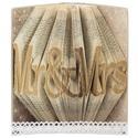 Vintage belső könyvborító könyvszoborhoz, Rusztikus hangulattal, rózsás díszítéssel, Dekoráció, Otthon, lakberendezés, Szeretnél a könyvszobrodnak egy különleges megjelenést adni a belső borítójára? Nem szeretnéd látni ..., Meska