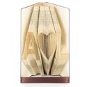 Egyedi feliratos hajtogatott könyv origami - nászajándék - Hölgyeknek - Uraknak - M szív CS - könyvszobor - E36, Esküvő, Esküvői dekoráció, Nászajándék, Esküvőre vagy hivatalos és szeretnéd az ifjú párt meglepni valami igazán egyedivel?   Megsúgom az ör..., Meska