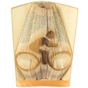 Kerékpár mintájú hajtogatott könyv origami - bicikli szeretőknek - sportolóknak - E49, Dekoráció, Férfiaknak, Dísz, Hajtogatott könyv vagy más néven könyv origami.   ****ALAP INFORMÁCIÓK**** A hajtogatott könyv ideál..., Meska
