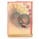 Hőlégballonos külső könyvborító könyvszoborhoz, Rusztikus hangulattal, Utazóknak, Évfordulóra, Dekoráció, Otthon, lakberendezés, Férfiaknak, Kép, A különleges hőlégballonos borítót neked találtam ki, ha valami igazán egyedire vágysz.    Ha bármil..., Meska