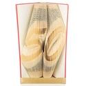 50 - Egyedi számos hajtogatott könyv origami - könyvszobor ötvenedik születésnapra - évfordulóra, Dekoráció, Otthon, lakberendezés, Dísz, Utcatábla, névtábla, Hajtogatott könyv vagy más néven könyv origami.  Egyedi elképzelés alapján bármilyen szöveg elkészít..., Meska