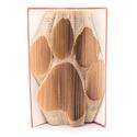 Tappancs mintájú hajtogatott könyv origami - kutya macska szeretőknek - állatbarátoknak - lábnyom, Dekoráció, Állatfelszerelések, Otthon, lakberendezés, Kerti dísz, Hajtogatott könyv vagy más néven könyv origami.   ****ALAP INFORMÁCIÓK**** A hajtogatott könyv ideál..., Meska