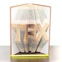 TRX feliratos könyvszobor, Sportolónak, Edzőnek, , Dekoráció, Férfiaknak, Otthon, lakberendezés, Dísz, ****ALAP INFORMÁCIÓK**** A hajtogatott könyv ideális ajándéknak bizonyul életünk minden nagyobb esem..., Meska