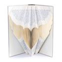 Angyalszárny könyvszobor, Védőangyalnak, Szárnyalás, Szabadság, Mindenmás, Dekoráció, Otthon, lakberendezés, Hangszer, zene, Hajtogatott könyv vagy más néven könyv origami.    ****ALAP INFORMÁCIÓK**** A hajtogatott könyv ideá..., Meska