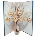 Családfa mintájú hajtogatott könyv origami-könyvszobor-anya-apa-papa-mama-gyerek-nagyszülők-dédszülők - E246, Hajtogatott könyv vagy más néven könyv origami...