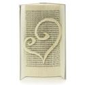 Szív alakú szerelmes könyvszobor, Esküvőre, Lakodalomba, Nászajándéknak, Dekoráció, Esküvő, Otthon, lakberendezés, Dísz, Papírművészet, Újrahasznosított alapanyagból készült termékek, Hajtogatott könyv vagy más néven könyv origami.   ****ALAP INFORMÁCIÓK**** A hajtogatott könyv ideá..., Meska
