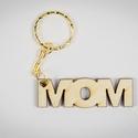 """Mom kulcstartó - lézer vágott fa - Anyák napi ajándék - személyes - KUL001, Mindenmás, Dekoráció, Ruha, divat, cipő, Kulcstartó, ****ÉRZÉSEK****  Reggeli sietés közben:  """"Drágám, hol van a kulcscsomóm?"""" Nincs válasz....  Ajándéko..., Meska"""