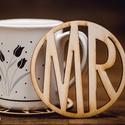 MR mintájú lézervágott fa poháralátét - kávénak - teának - A002, Dekoráció, Esküvő, Nászajándék, Esküvői dekoráció, Famegmunkálás, 1 db alátét  ****ÉRZÉSEK****  EL tudsz képzelni egy olyan csodás estét amikor a pároddal beszélgett..., Meska
