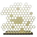Méhecske lézervágott fa ékszertartó - ötletes ajándék - állatbarát - méhecskés - természetes - fülbevalótartó - anyának, Ékszer, óra, Esküvő, Ékszertartó, Nászajándék, Nyírfa ékszertartó egyedi tervezésű méhkaptár mintázattal. A kaptárakba akaszthatod lógós fülbevalói..., Meska