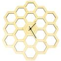 """Óriás Méhész falióra - Hatszög forma - Férfiaknak - Modern - Minimal - Méhsejt óra - Nászajándék - Nappali, Férfiaknak, Otthon & lakás, Lakberendezés, Falióra, óra, Ékszer, kiegészítő, """"Szerelmem olyan, mint egy virág. Én vagyok a rügy, te vagy a méh. Teljesen a tiéd vagyok.""""  Unod má..., Meska"""