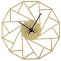 Különleges geometriai óra - Játékos - Vicces - Férfiaknak - Modern - Minimal - 3D - Matematika - Háromszögek, Ékszer, Férfiaknak, Karóra, óra, Ékszer, kiegészítő, Gravírozás, pirográfia, Unod már az egyszerű, egyhangú faliórákat? Szeretnéd, ha szobád falát egy egyedi, fából készített ó..., Meska