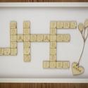 Scrabble emlékkönyv csomag- betű ajándék - különleges - lézervágott - játékos - természetes - gravírozott nászajándék, Esküvő, Nászajándék, Meghívó, ültetőkártya, köszönőajándék, Esküvői dekoráció, ****ÉRZÉSEK****  Az általad elkészített emlékkönyv mindenképpen az egyik legfontosabb ajándék, amit ..., Meska